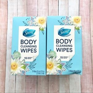 Secret Body Cleansing Wipes COOL WATERLILY 2 Boxes